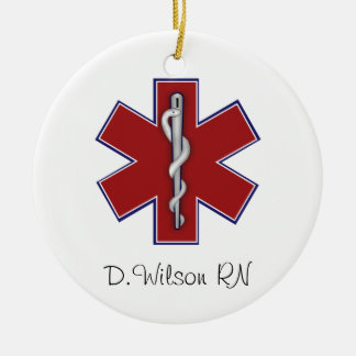 Personalized Nurse Ceramic Ornament