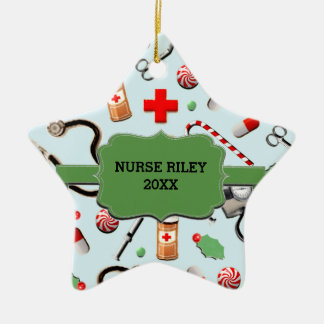 Personalized Nurse Collectible Ceramic Ornament
