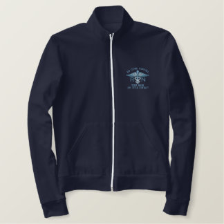 Personalized Nurse RN Your Text Medical Caduceus Jackets