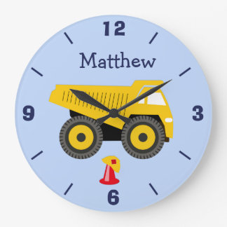 Personalized Nursery Truck Wall Clock