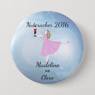 Personalized Nutcracker - Clara Ornament 3 Inch Round Button
