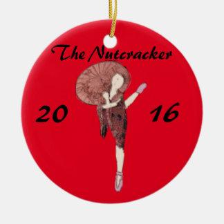 Personalized Nutcracker Ornament- Chinese Ceramic Ornament