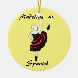 Personalized  Nutcracker Ornament - Spanish Dancer