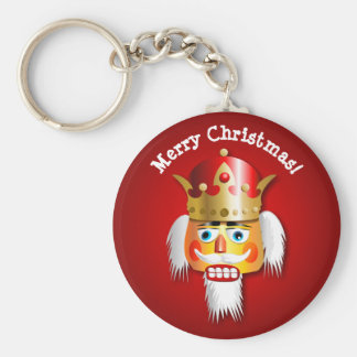 Personalized Nutty Nutcracker King Cartoon Basic Round Button Keychain