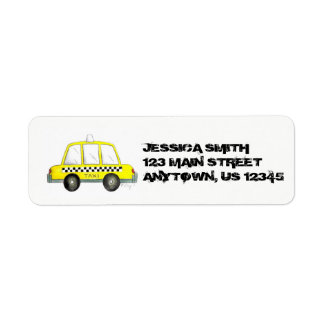 Personalized NYC Yellow Taxi Checker Cab New York Return Address Label