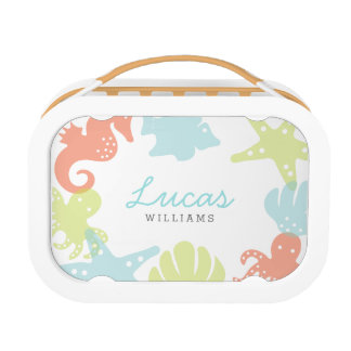 Personalized | Ocean Critters Lunchbox