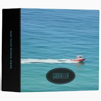 Personalized: Ocean Speed Boat Print Binder