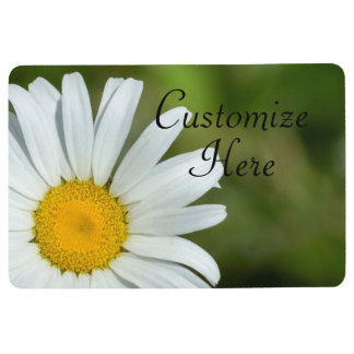 Personalized Offset Daisy Floor Mat