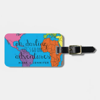 Personalized Oh Darling Let's Go on Adventures Bag Tag