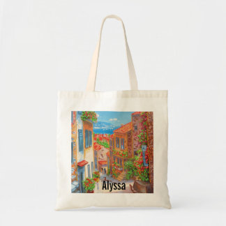 Personalized Old Mediterranean City Tote Bag