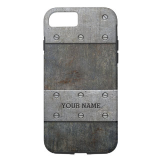 Personalized Old Metal Look Tough iPhone 7 Case