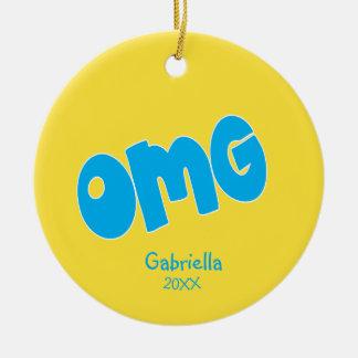 Personalized OMG Oh My God Emoji Ornament