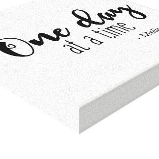 Personalized 'One day at a time' saying with name Canvas Print