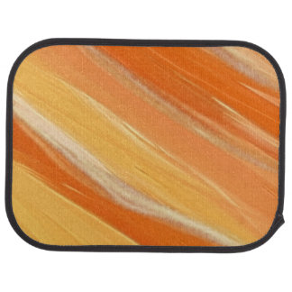 Personalized Orange and White Streaked Car Mat