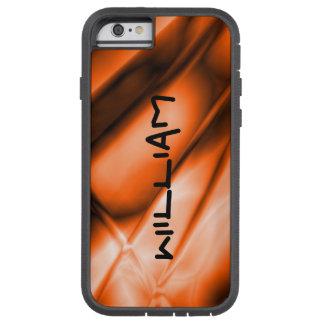 Personalized Orange Colored iPhone Tough Case