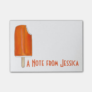 Personalized Orange Creamsicle Popsicle Post It Post-it® Notes