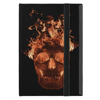 Personalized Orange Fire Skull iPad Mini Case