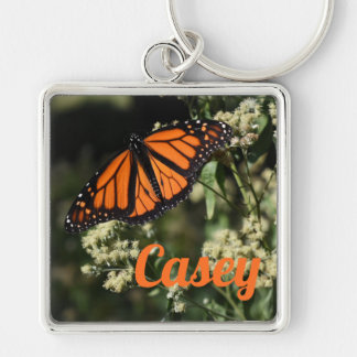 Personalized Orange Monarch Butterfly Nature Photo Keychain