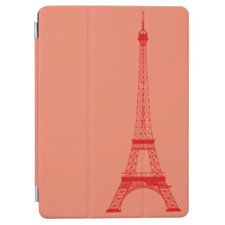 Personalized Orange Red Eiffel Tower iPad Air Cover