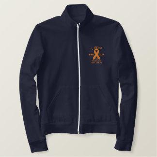 Personalized Orange Ribbon Awareness Embroidery Embroidered Jacket