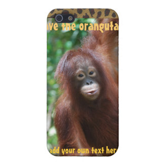 Personalized Orangutan Case for Conservation iPhone 5 Cases