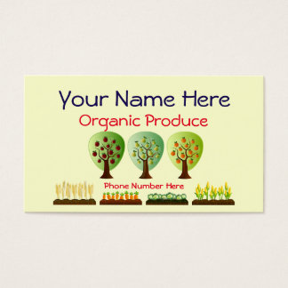 Personalized Organic Farming Produce Business Card