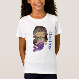 Personalized Organic Mermaid Girls Shirt