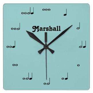 Personalized Original Music Note Clock