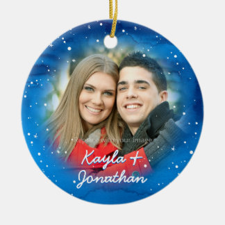 Personalized Our First Christmas Photo Ornament