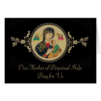 Personalized Our Mother of Perpetual Help Card