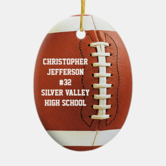 Personalized Oval Football Sports Ornament