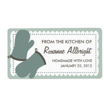Personalized Oven Mitts Canning Label