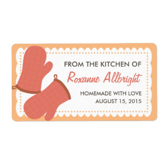 Personalized Oven Mitts Canning Label (mango) Shipping Label