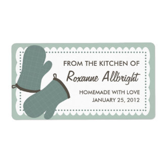 Personalized Oven Mitts Canning Label Shipping Label
