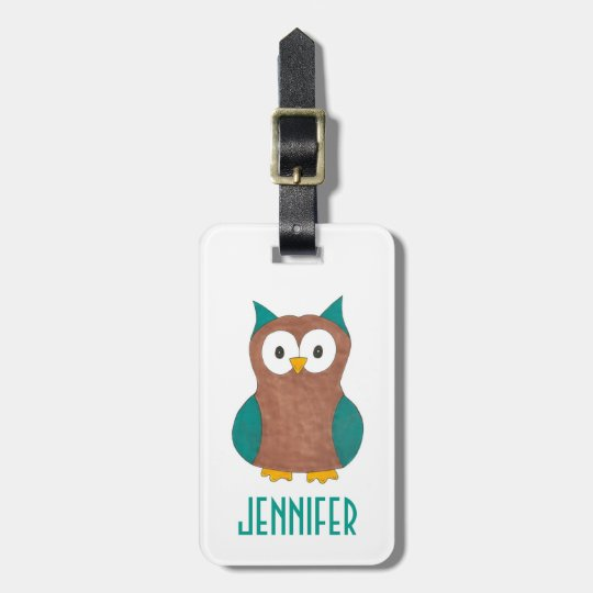 Personalized Owl Bird Owls Luggage Bag Tag