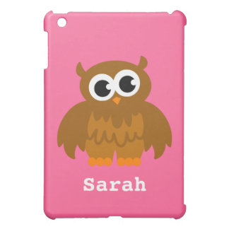 Personalized owl cartoon Ipad mini case | Pink