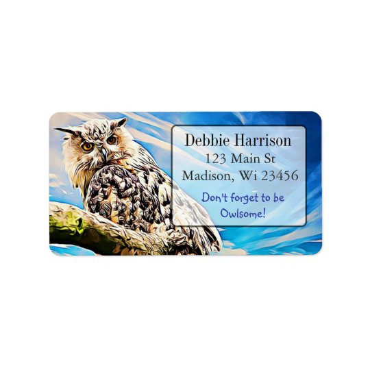 Personalized Owl Quote Return Address Labels