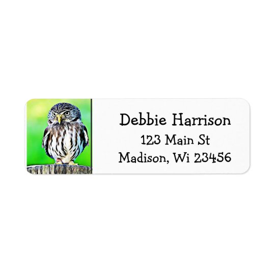 Personalized Owl Return Address Labels