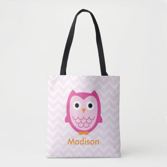 Personalized Owl Tote Bag