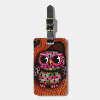 Personalized Owl Tree Luggage Tag