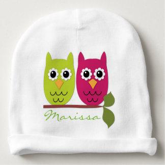 Personalized Owls Baby Beanie