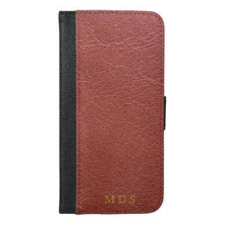 Personalized Oxblood iPhone 6/6s Plus Wallet Case