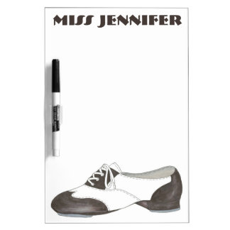 Personalized Oxford Tap Shoe Dance Teacher Gift Dry Erase Board