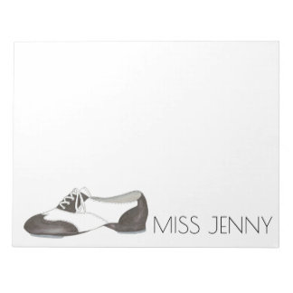 Personalized Oxford Tap Shoe Dance Teacher Notepad