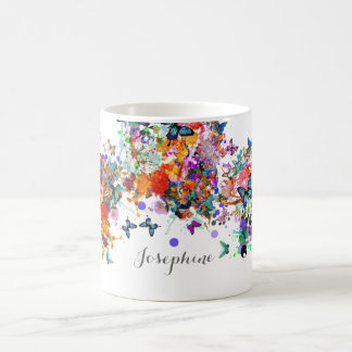 Personalized Paint splash Butterflies Pop Art Coffee Mug