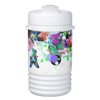 Personalized Paint splash Butterflies Pop Art Cooler