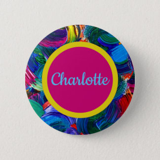 Personalized Painted Pin with Double Dot