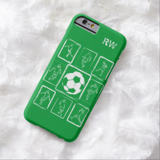 Personalized Painted soccer skills Barely There iPhone 6 Case