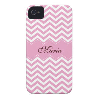 Personalized pale pink chevron pattern case