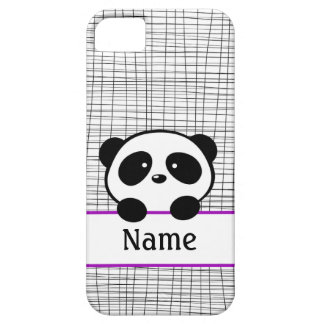 Personalized Panda Bear Purple iPhone 5 Case